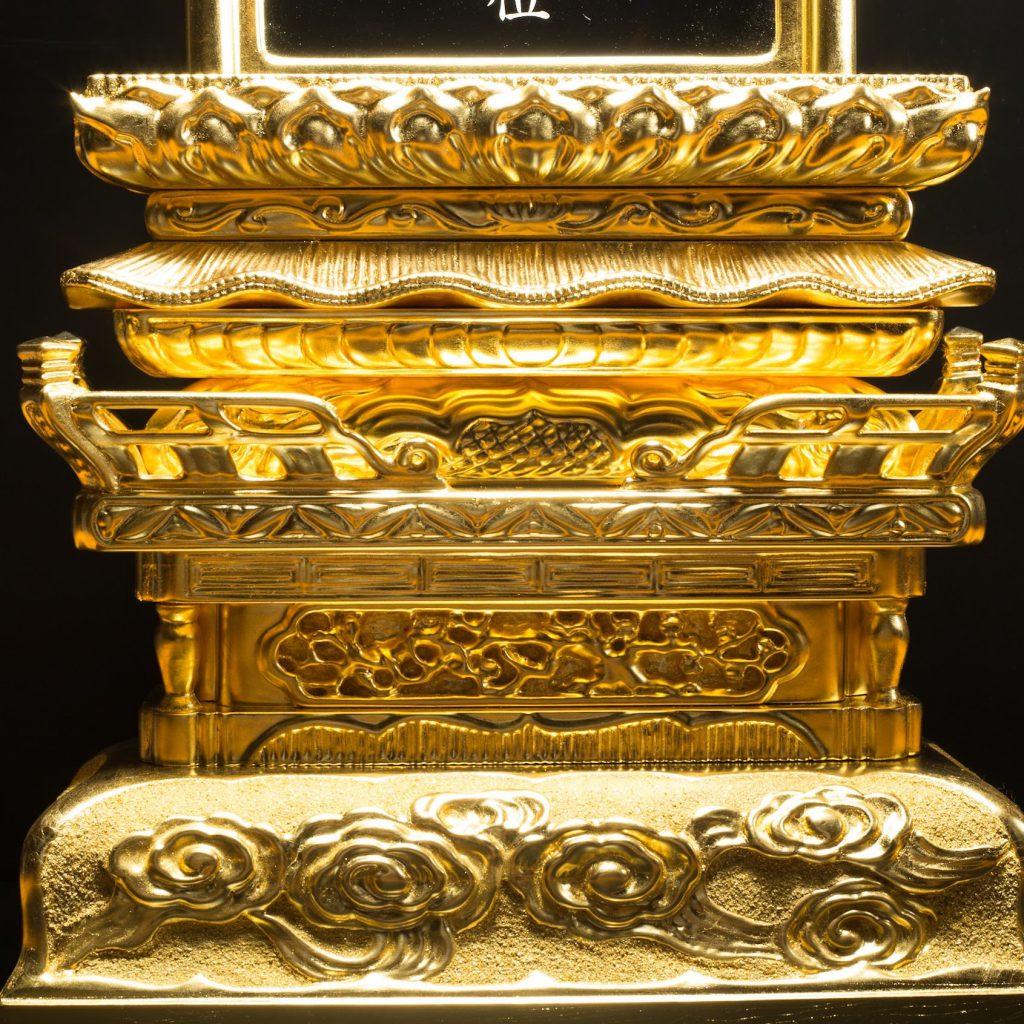 寺院用の大きな位牌の修復事例