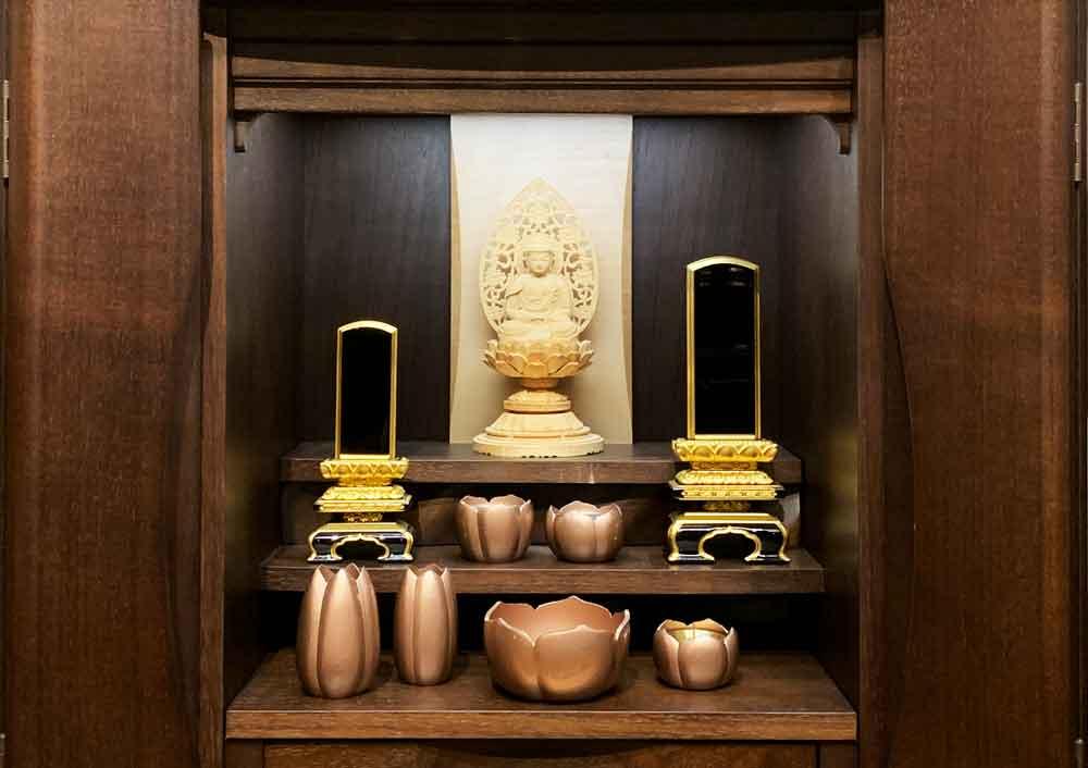 小さな仏壇の場合の位牌の置き方