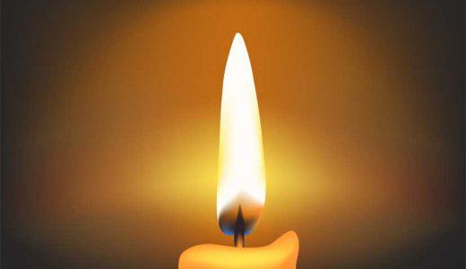 蝋燭は無明の闇を照らす真理のあかり