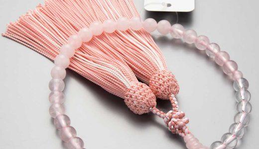 念珠の素材紹介 − ローズクォーツ